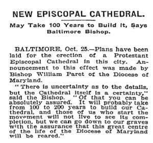 New Episcopal Cathedral article