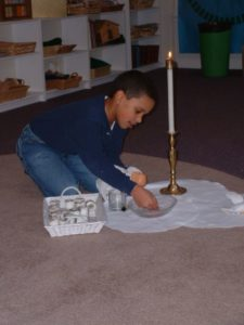 child playing at Cathedral of the Incarnation