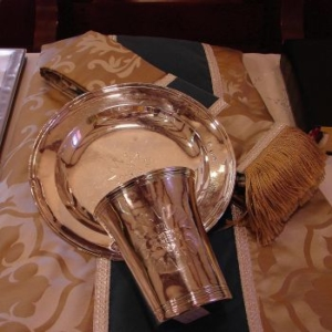 WhatWeDoOpeningPage This photo (TP) Sterling Communion Set Given by Queen Anne of England