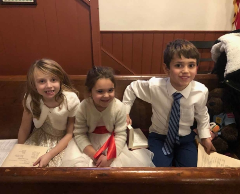 TP shows childrens joy after the Christmas Pageant
