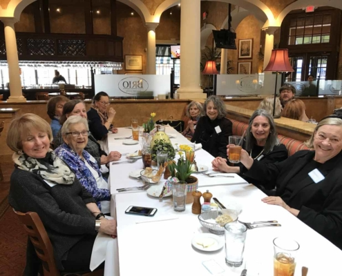 TP shows ladies of the Parish at an Annual Luncheon at a local bistro