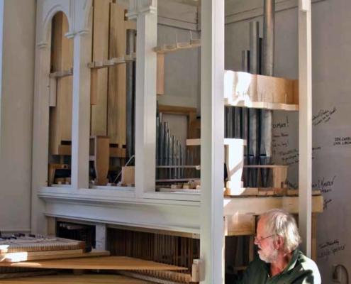 TP shows David Moore installing the organ in the Brick Church
