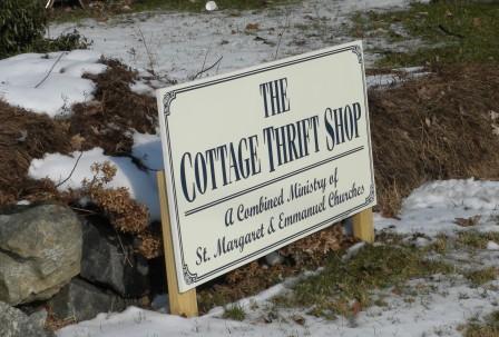 The Cottage Thrift Shop Sign