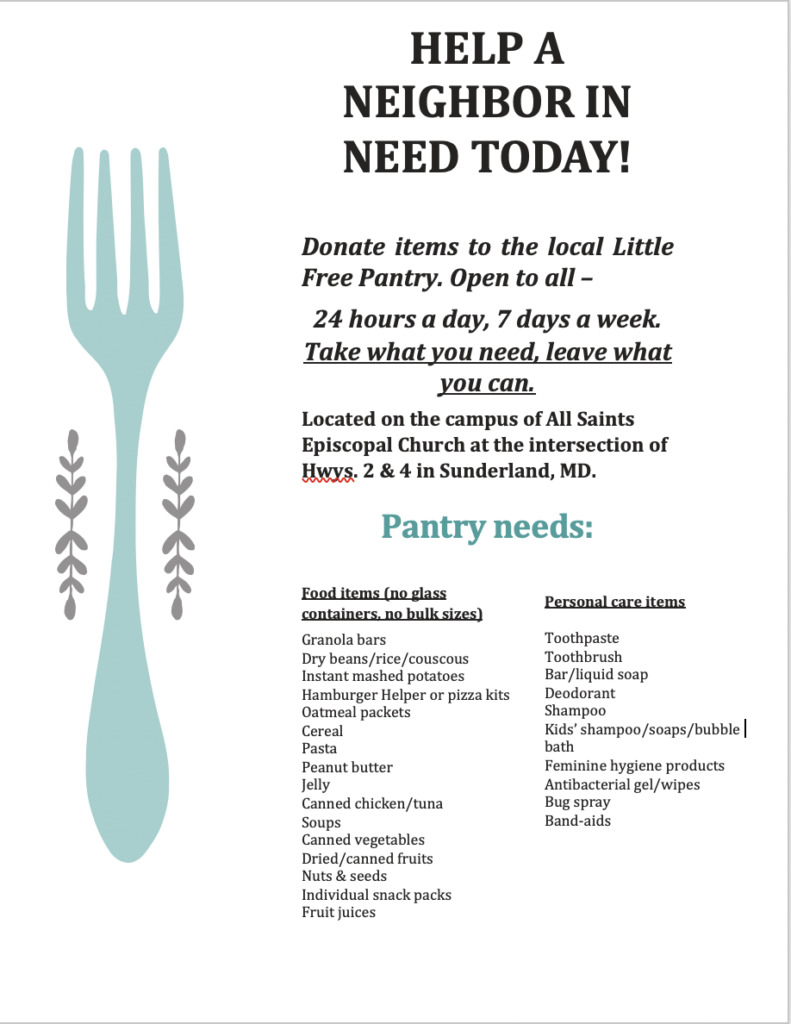 Little Free Pantry at All Saints