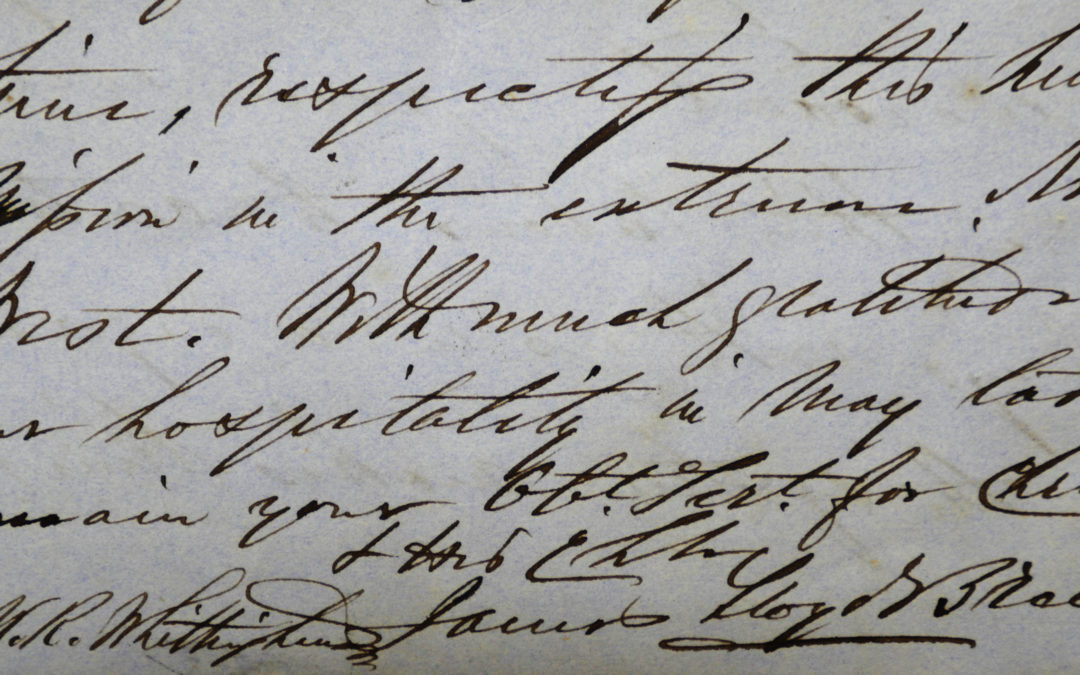 From the Archives: James Lloyd Breck's Letter to Mrs. Whittingham